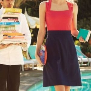 Anthropologie Girls From Savoy Red Blue Dress 8